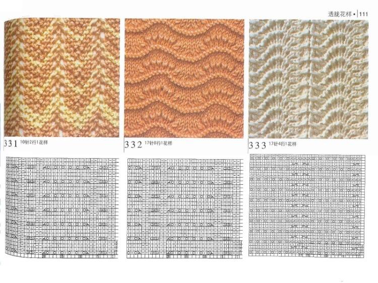 Ажурное вязание спицами волнистые узоры
