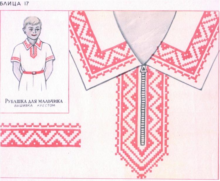 Вышивки на русских народных костюмах