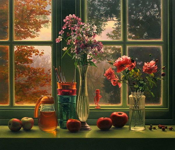 Фото натюрмортов с цветами на окне