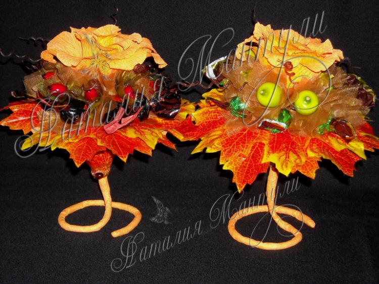 Осенние поделки из конфет 35