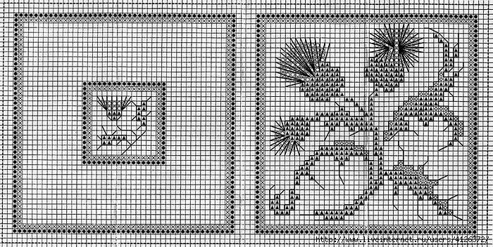 Чертополох схема для вышивки крестом 901