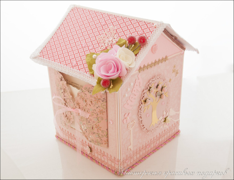 Коробка домик для денег своими руками