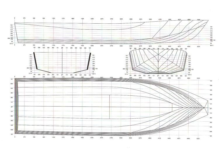 катер из лодки своими руками чертежи