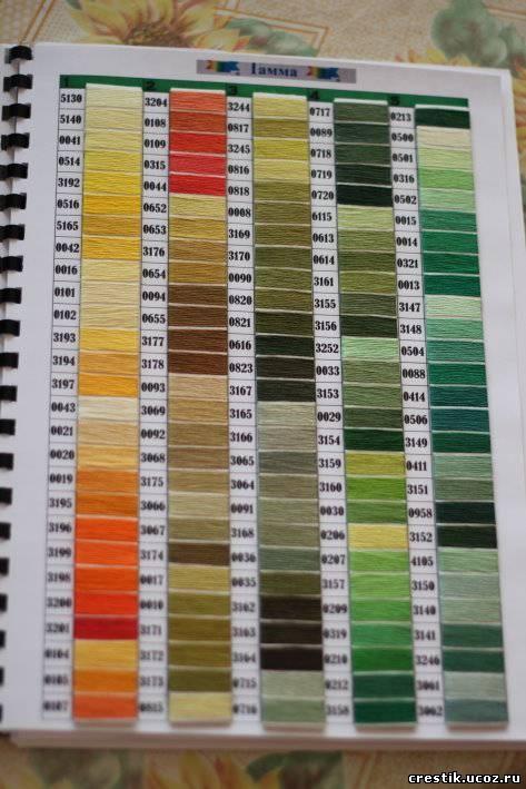 Цветовая самодельная