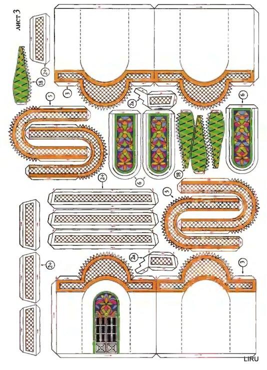 Сделать макет храма своими руками из бумаги 83