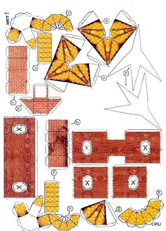Схема избушки на курьих ножках