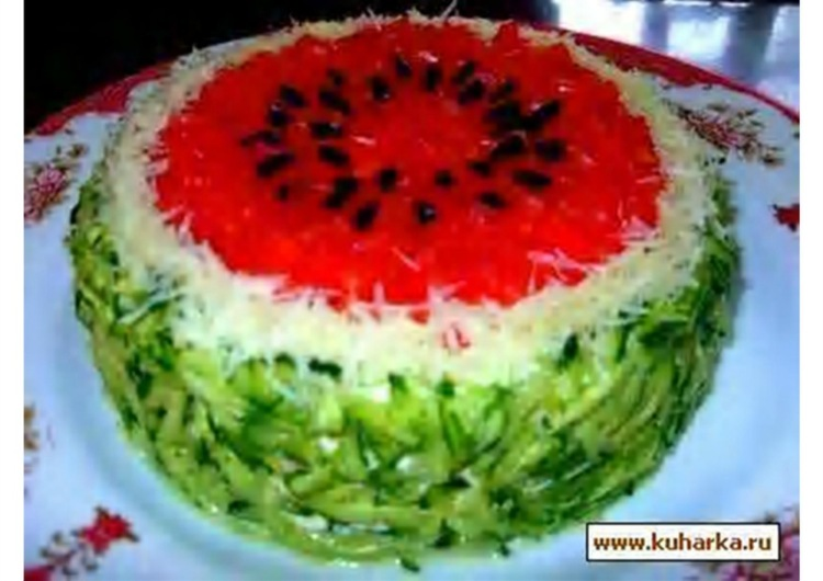 Рецепт салата арбуз