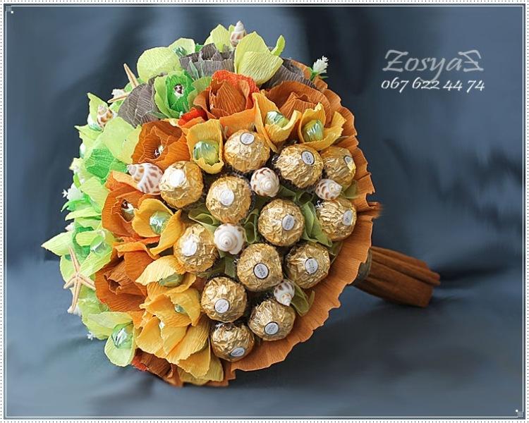 Букеты из конфет для мужчин фото 81