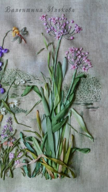 Валентина илькова вышивка лентами травки валентины ильковой