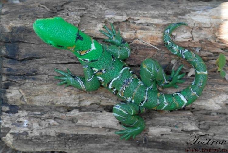 Ящерка из полимерной глины своими руками пошаговое фото 24