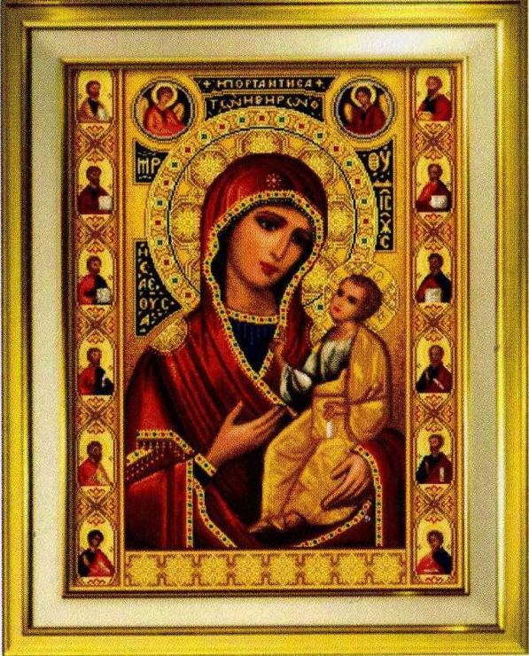 Иверская икона божьей матери схема вышивки 82