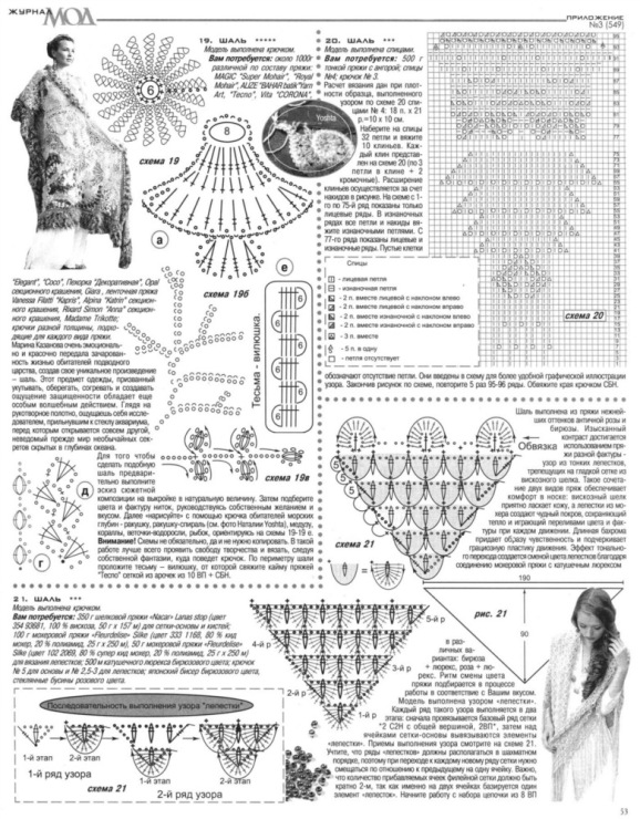 Журнал вязания шалей крючком 92