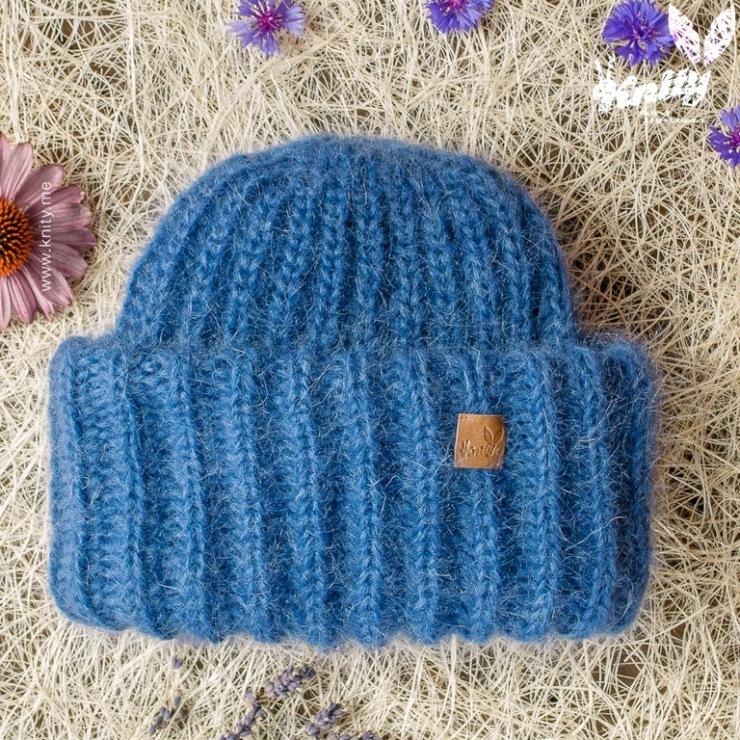 Вязание шапочки с отворотами 885