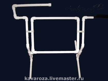 Станок для вышивания из пластиковых труб с размерами