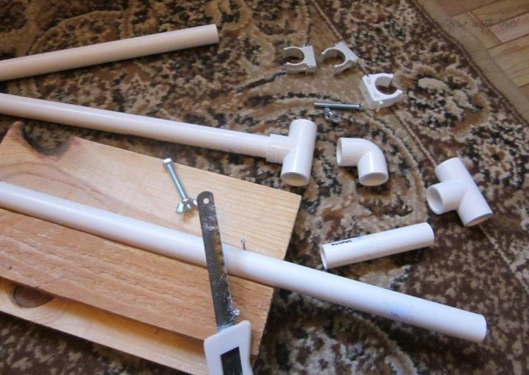 Станок для вышивания из труб пвх своими руками