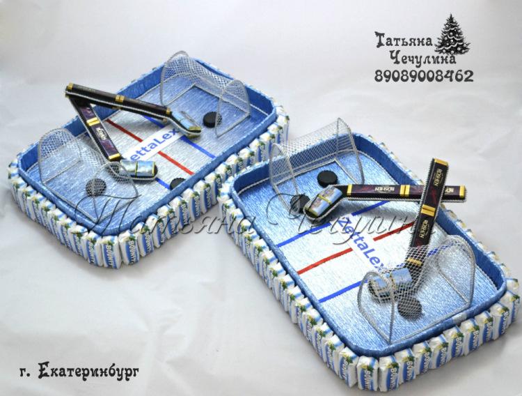 Коробка хоккейная своими руками
