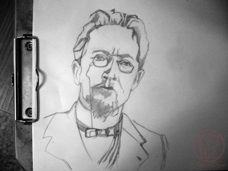 пять раз как нарисовать портрет антона паловича чехова поэтапно папа