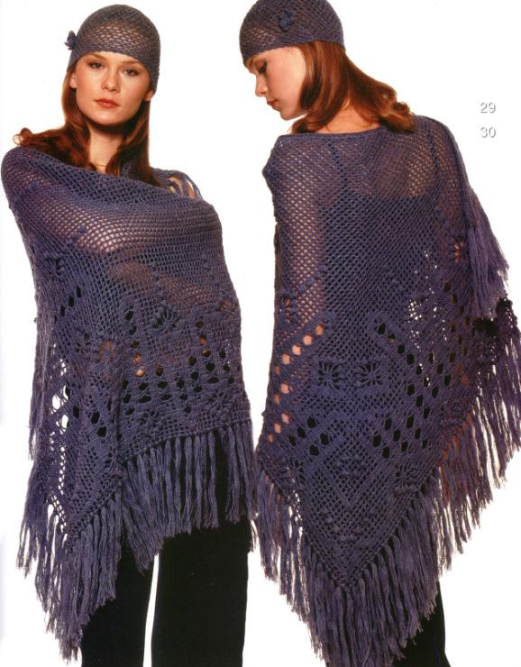 Журнал мод вязание крючком 549 шали 44