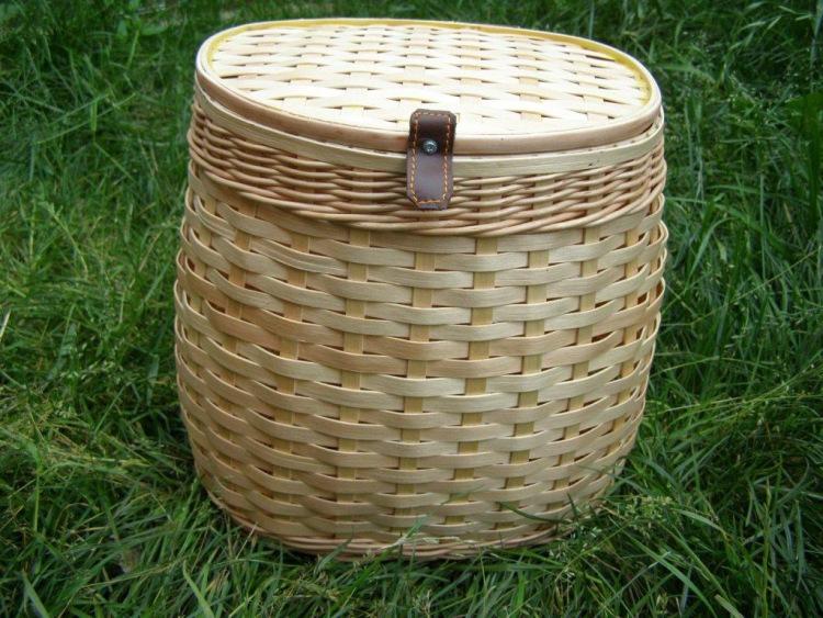 Плетение корзин из сосновой дранки