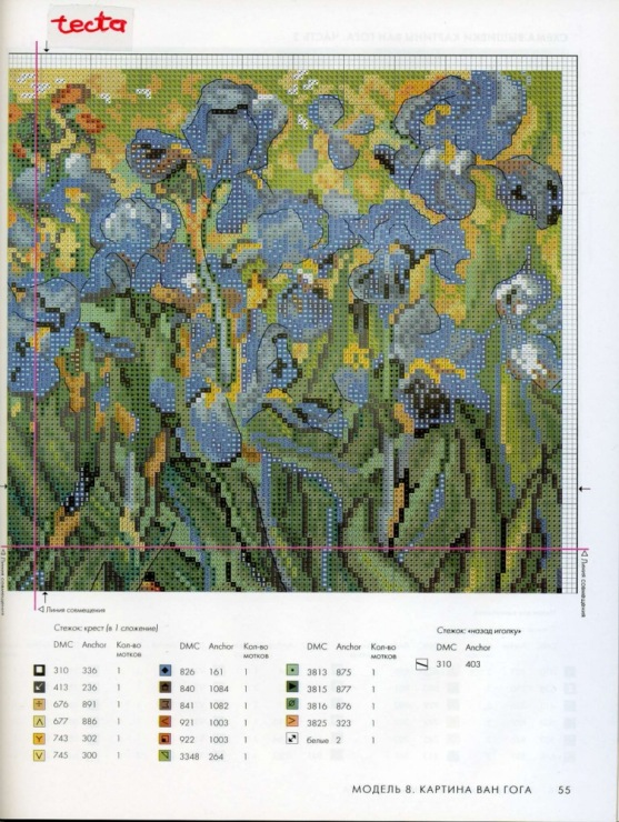 Вышивка схемы картины ван гога