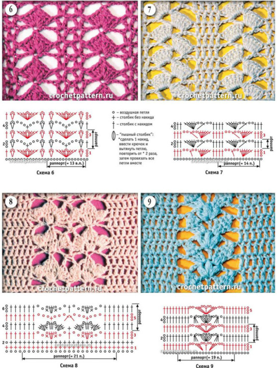 Вязание салфетки крючком со схемами оригинальные