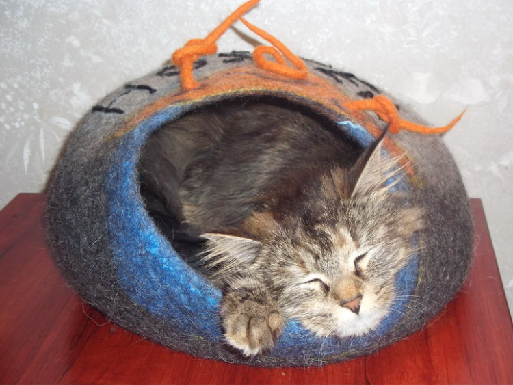 Норка для кошки своими руками