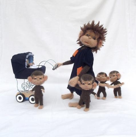 Вязание обезьянок только спицами