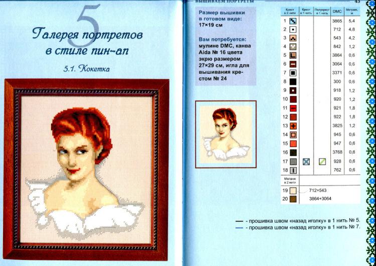 Как сделать вышивку из портрета
