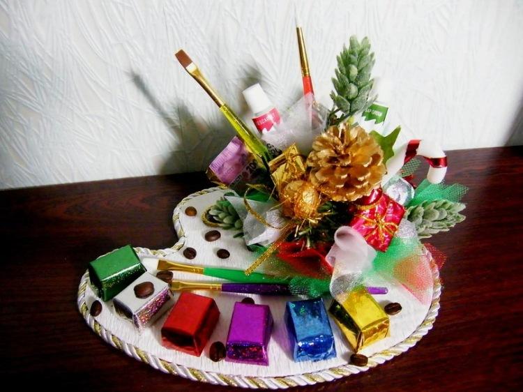 Фото композиции из конфет своими руками