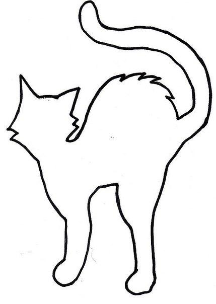 Сделать трафареты кошек