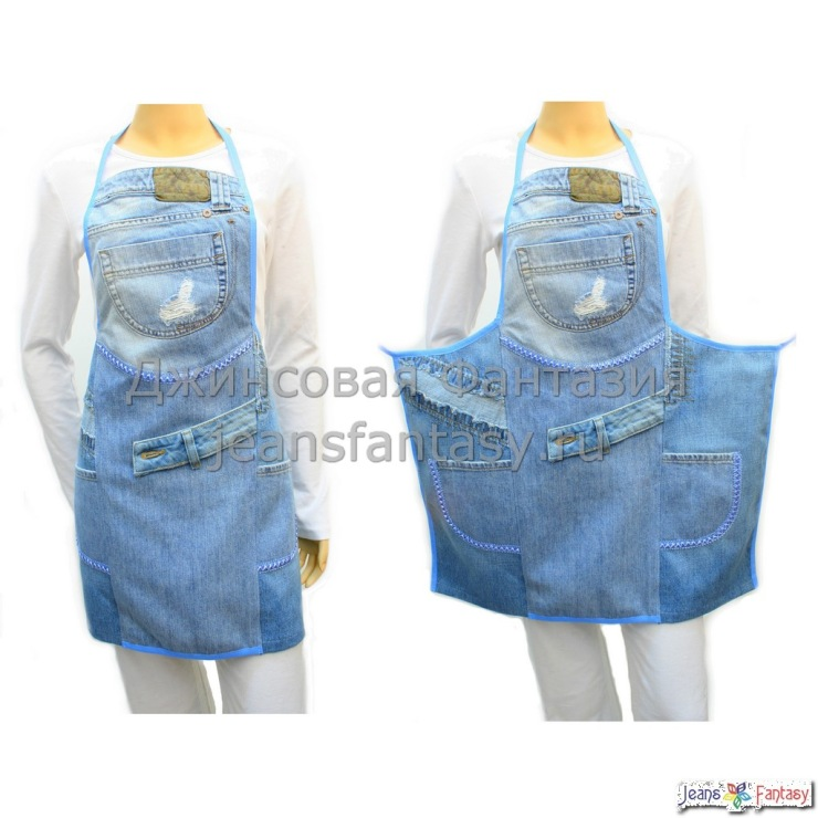 Фартуки из джинсы своими руками 459