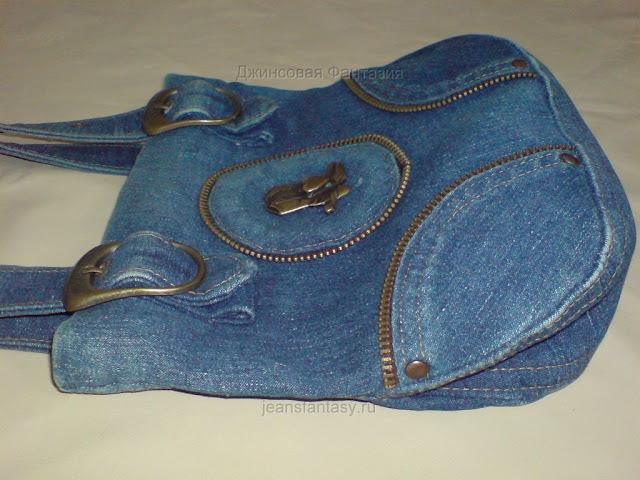 Как сшить маленькую сумку из старых джинсов своими руками