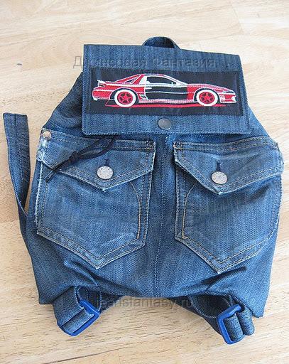 Детский рюкзак своими руками из старых джинсов
