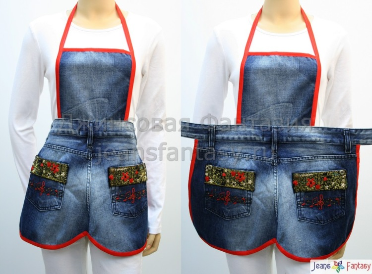 Фартуки из джинсы своими руками 130