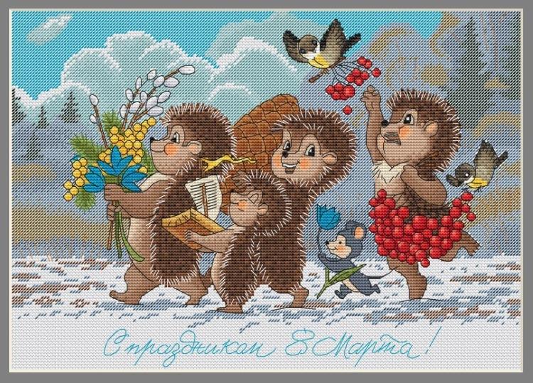 Схема вышивки советские открытки 49