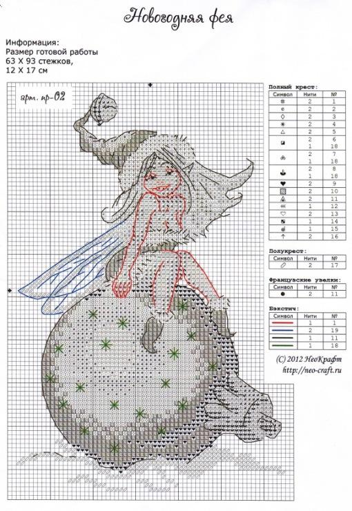Бесплатные схемы вышивки крестом эльфы - картинки из мультфи.