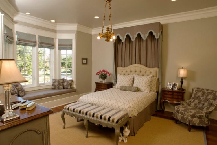 Спальня с эркерным окном дизайн фото