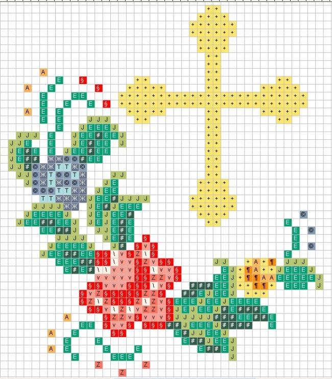 Вышивка крест церковный 83