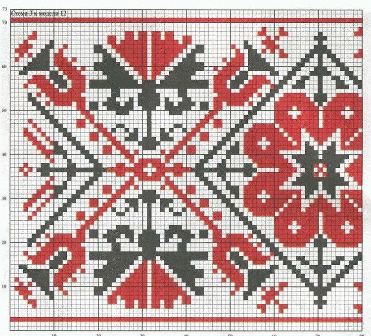 Красное и черное в вышивке 643