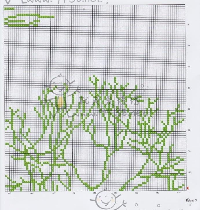 Схемы триптих дерево монохром