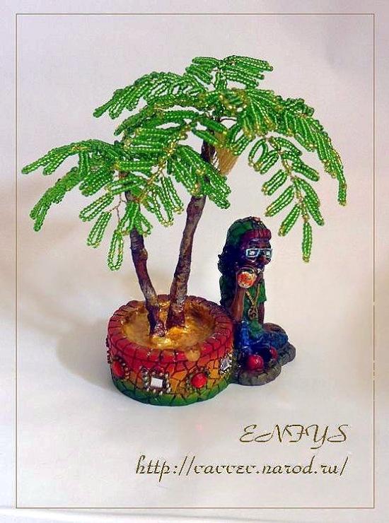 Из бисера схемы плетения пальма