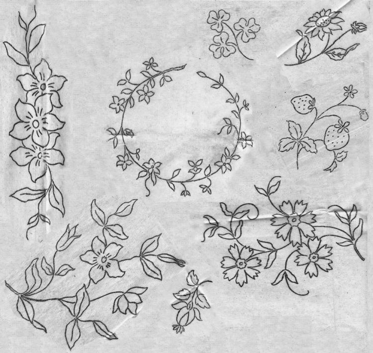 Вышивка лентами скатерть рисунки