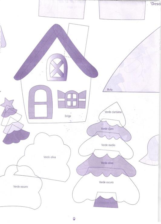 Новогодний домик из фетра  выкройки